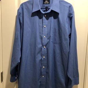 Blue Pin Stripe Dress Shirt